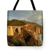 Bixby Creek Bridge In Big Sur Tote Bag