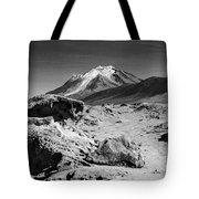 Bizarre Landscape Bolivia Black And White Tote Bag