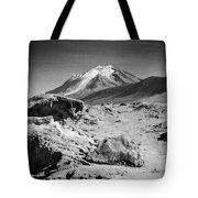 Bizarre Landscape Bolivia Black And White Select Focus Tote Bag