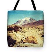 Bizarre Landscape Bolivia Old Postcard Tote Bag
