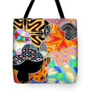 Bizzarro Colorful Psychedelic Floral Abstract Tote Bag