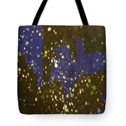 Black And Blue Splatter Tote Bag