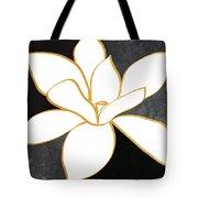 Black And Gold Magnolia- Floral Art Tote Bag