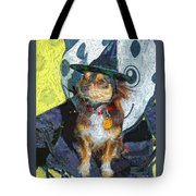 Black And Tan Chihuahua - Such A Good Little Witch Tote Bag
