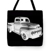 Black And White 1951 Ford F-1 Pickup Truck  Tote Bag