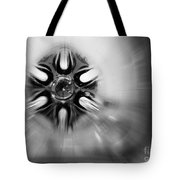 Black And White Abstract Burst Tote Bag