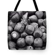 Black And White Acorns Tote Bag