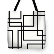 Black And White Art - 156 Tote Bag