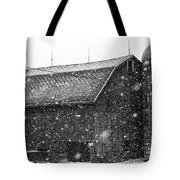Black And White Barn Tote Bag
