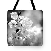 Black And White Blossoms Tote Bag