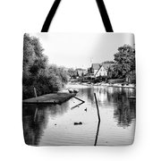 Black And White - Boathouse Row Tote Bag