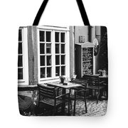 Black And White Cafe Tote Bag