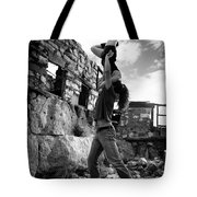 Black And White Candlestick Tote Bag