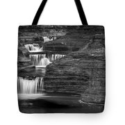 Black And White Cascade Tote Bag