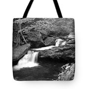 Black And White Cascade Tote Bag