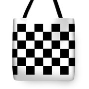 Black And White Checkered Flag Tote Bag