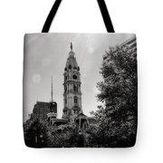 Black And White City Hall Tote Bag