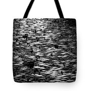 Black And White Cobblestone Pattern Tote Bag