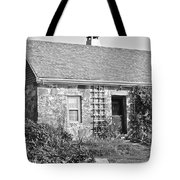 Black And White Cottage Tote Bag