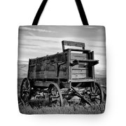 Black And White Covered Wagon Tote Bag