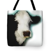 Black And White Cow On White Tote Bag
