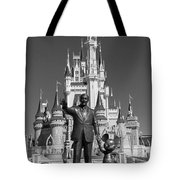 Black And White Disney And Mickey Tote Bag