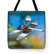 Black And White Dragonfly Tote Bag