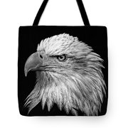 Black And White Eagle Tote Bag