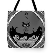 Black And White Explosion Tote Bag
