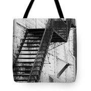 Black And White Fire Escape Usa Near Infrared Tote Bag