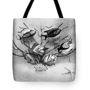 Black And White Fish 1  Tote Bag