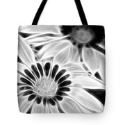 Black And White Florals Tote Bag