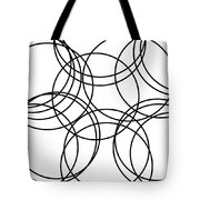 Black And White Hoops Tote Bag