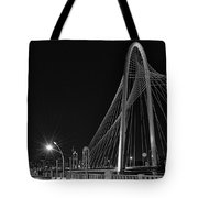 Black And White Hunt-bridge-dallas Tote Bag
