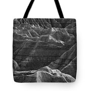 Black And White Image Of The Badlands Tote Bag