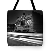 Black And White Light Painting Old City Prime Tote Bag