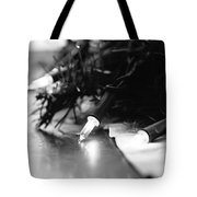 Black And White Lights Tote Bag