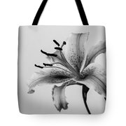 Black And White Lily Tote Bag