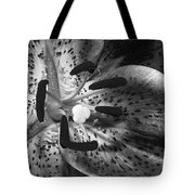 Black And White Lily Up Close Tote Bag