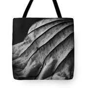 Black And White Lotus Leaf Tote Bag
