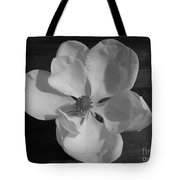 Black And White Magnolia Blossom Tote Bag