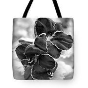 Black And White Maui Flowers Tote Bag