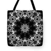 Black And White Medallion 1 Tote Bag