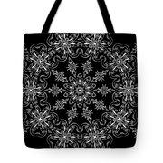 Black And White Medallion 11 Tote Bag