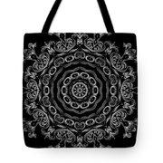 Black And White Medallion 2 Tote Bag