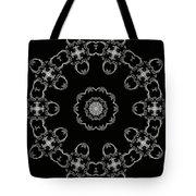 Black And White Medallion 3 Tote Bag