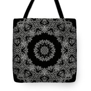 Black And White Medallion 6 Tote Bag