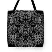 Black And White Medallion 7 Tote Bag