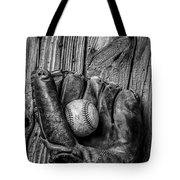 Black And White Mitt Tote Bag by Garry Gay