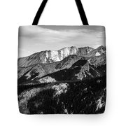 Black And White Mountains Tote Bag
